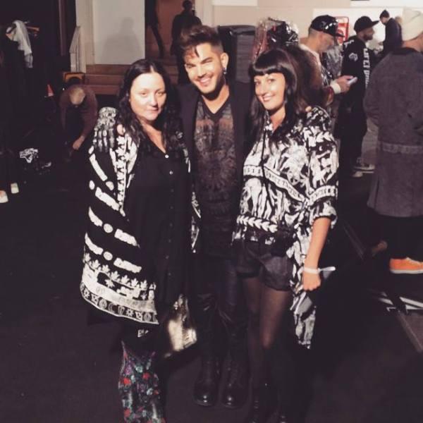 peoplesrevteam (IG page):  Backstage at #KTZ with @kellycutrone @adamlambert @emilybungertmn @ktz_official #LCM #londonfashionweek #adamlambert #peoplesrevteam Adam Lambert  http://k-t-z.co.uk/