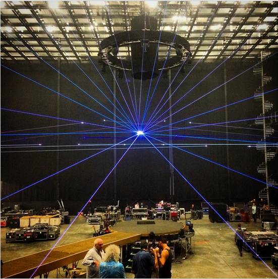Rehearsal photo on IG from rufusttaylor