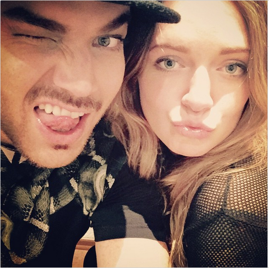 adamlambert: My girl @iamtovelo and I after the Hamburg @queenwillrock show! Thanks for coming!!