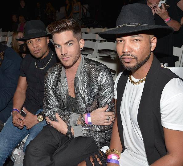@adamlambert: Front row Fashion show @terrancespencer @jskystyle @ashtonmichaella