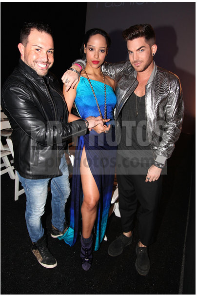 Wade McGhee, Marilinda Rivera and Adam Lambert 2015 Style Fashion Week L.A.: Boy London Featuring KD LUXE Jewelry by Kathleen Doonan Largent - See more at: http://www.prphotos.com/p/GRE-009301/wade-mcghee-marilinda-rivera-and-adam-lambert-at-2015-style-fashion-week-l-a--boy-london-featuring-kd-luxe-jewelry-by-kathleen-doonan-largent.html#sthash.3RzJCUOk.dpuf