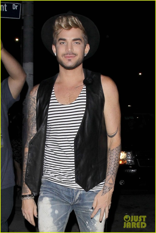 From Just Jared. More here: http://www.justjared.com/2015/07/03/adam-lambert-is-not-impressed-by-kanye-wests-bohemian-rhapsody-cover/