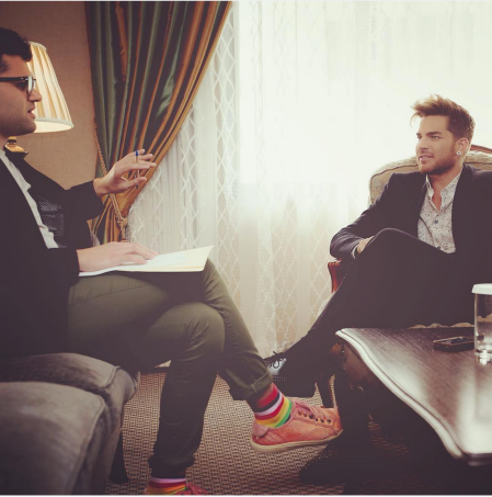 ljouleMy interview with Adam Lambert. Full story up on gayexpress.co.nz this weekend!