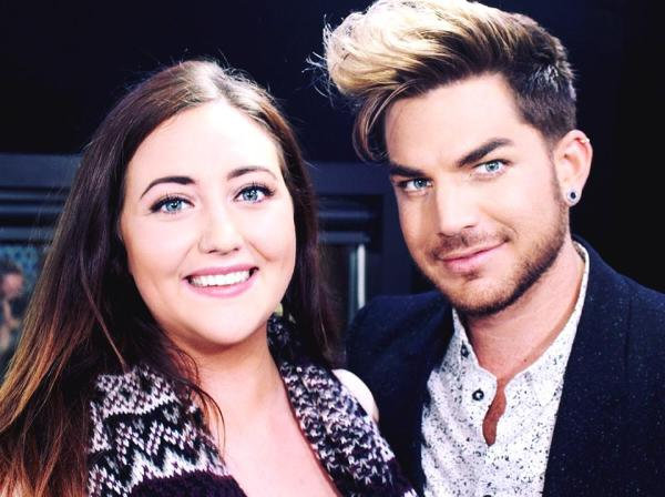The Edge Workday THE CAMERA IS SO CLOSE TO OUR FACES. Looking a bit derpy but the gorgeous Adam Lambert popped in! Hear his interview with The Edge Breakfast with Jay-Jay, Mike & Dom tomorrow morning — with Megan Annear.