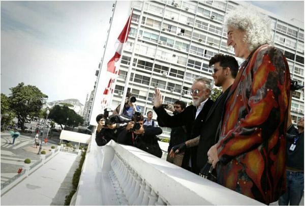 raphdiasQuase Rock in Rio. Coletiva de imprensa com Queen e Adam Lambert. Raphael Dias/Gshow #queen #rockinrio #rir #rock