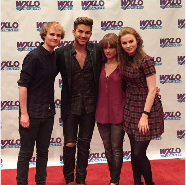 alanna.brownQuick picture at Almost Acoustic Xmas show with @1045wxlo! #adamlambert #therua #acousticxmas