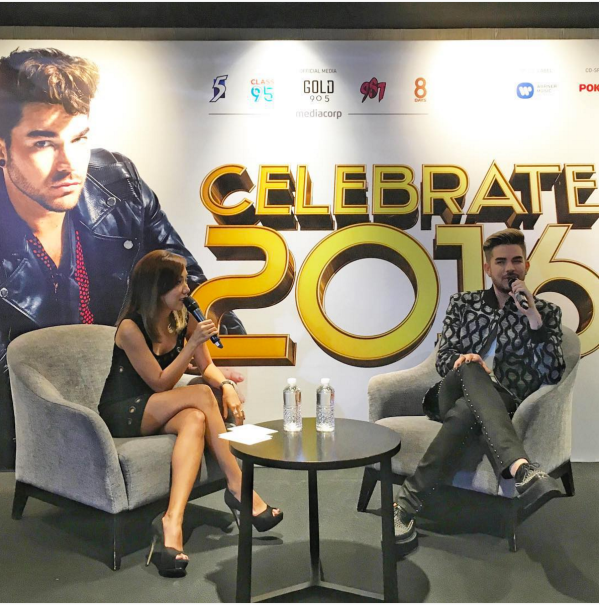 tdy_t: Well hello there #AdamLambert :) #Celebrate2016 Photo: Chua Hongyin