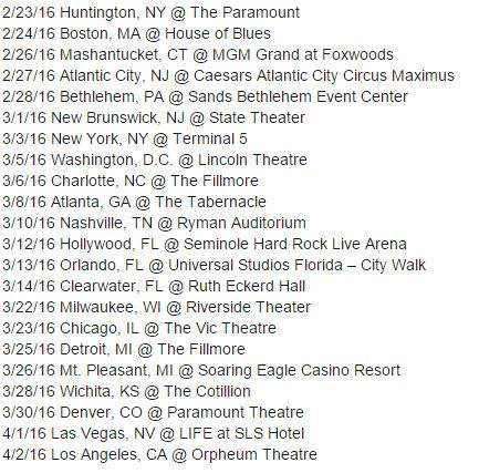 US Tour Dates