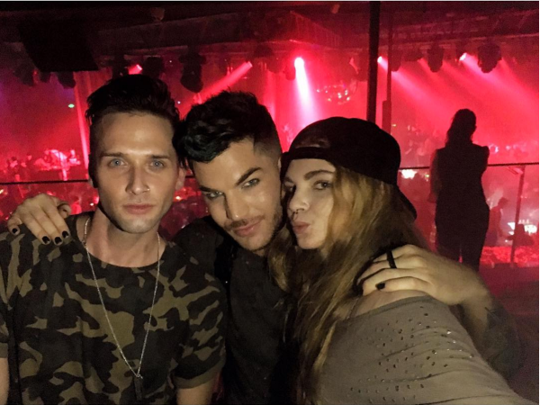 bkswayzeFlash Back with Adam Lambert! Queen + Adam Lambert Concert Was Amazing! Thanks for joining us at MYST #shanghai #nightlife #thankful #amazing #models #adamlambert #queen