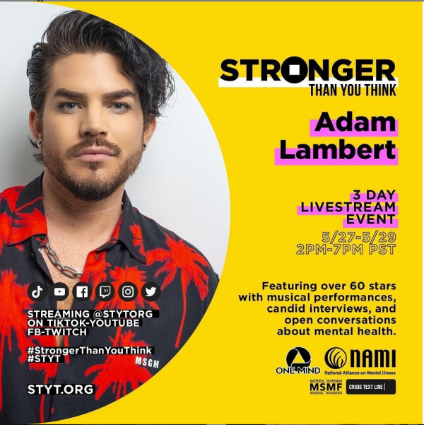 Adam Lambert for Stronger than you think